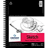 """Canson 702-192 Universal Sketch Pad, Side Wire Bound, 9"""" x 12"""", White"""