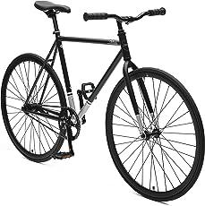 Critical Cycles 2311 Harper Coaster Fixie-Eingang-Pendlerrad mit Rücktrittbremse - Mattes Schwarz, 61 cm/X-Large