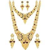 Mansiyaorange Combo Of Two Long Rani Haar And Multi Choker Jwelery/jwellery/jualry Necklace Jewelry For Women