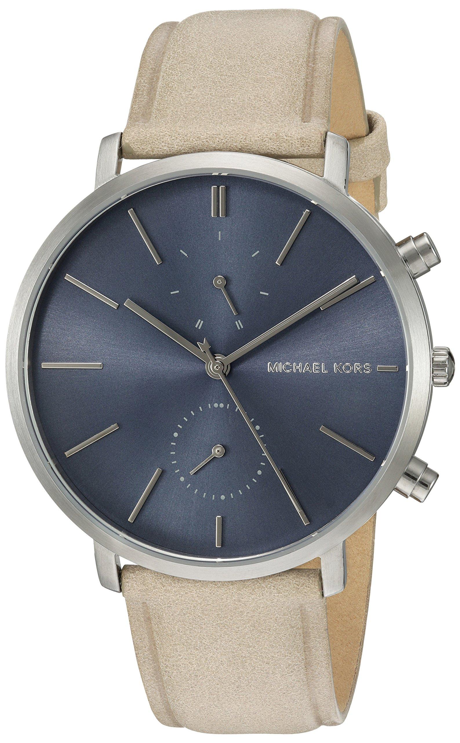 Michael Kors Reloj Analógico para Hombre de Cuarzo con Correa en Cuero MK8540
