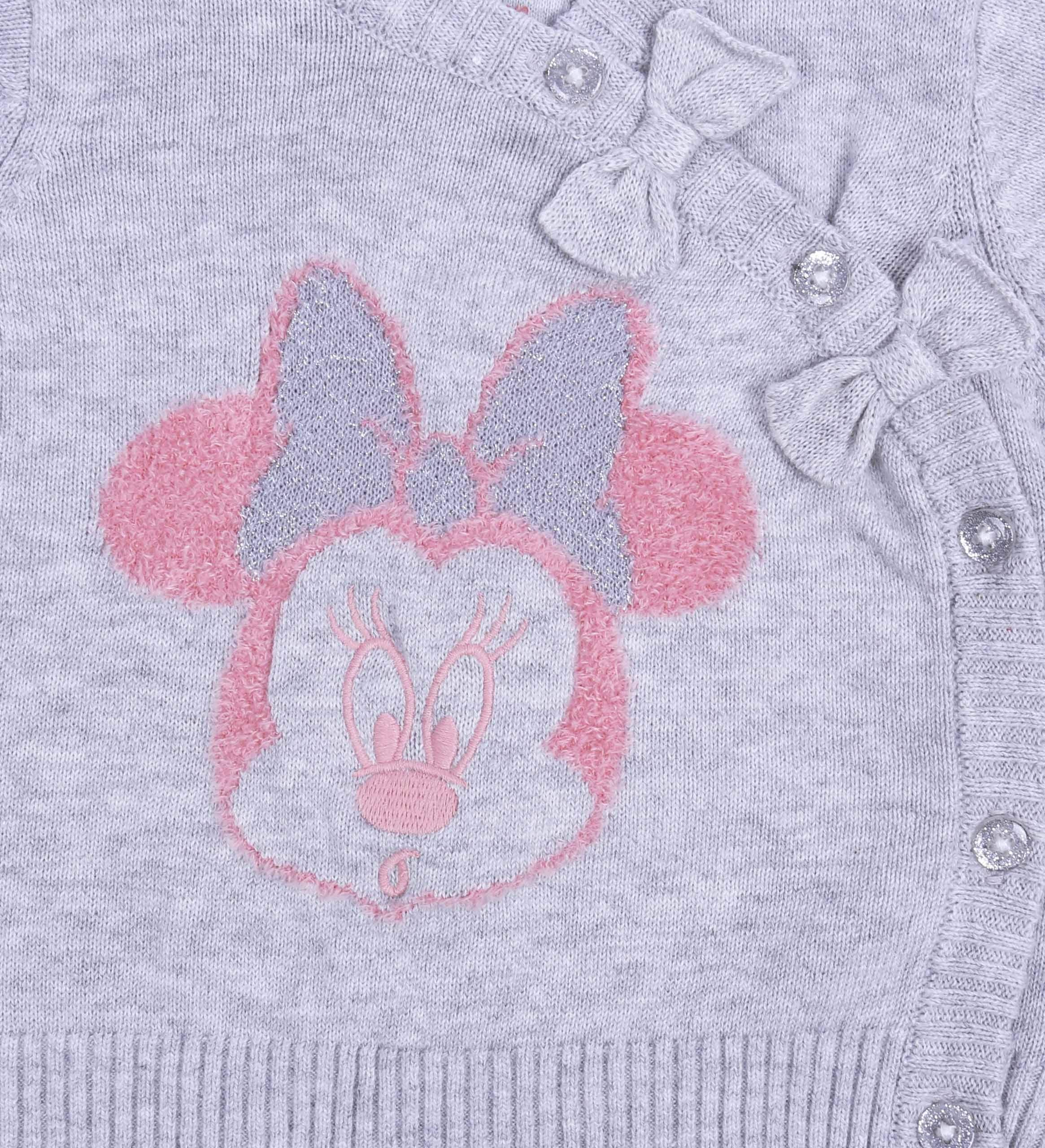 Suéter de bebé + Polainas, Color Gris-Rosa Minnie Disney 3