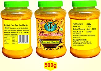 Raaga Globals Turmeric Powder, 500g