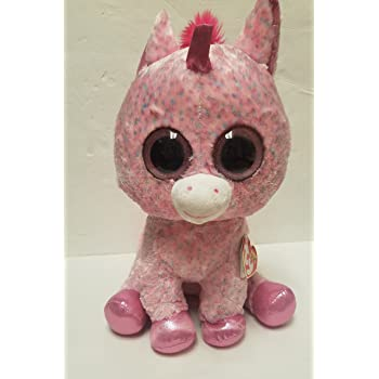 "TY Beanie Boo Large 16"" Plush Unicorn Rosey"