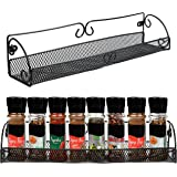 Belle Vous Porte Epices Cuisine Mural Noir (Lot de 2) - Porte Epice Mural à un Niveau pour Bocaux et Assaisonnements - Suppor
