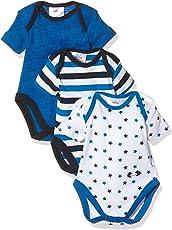 Twins Baby Jungen Kurzarm Body im 3er Pack