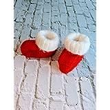 Christmas baby booties - Newborn