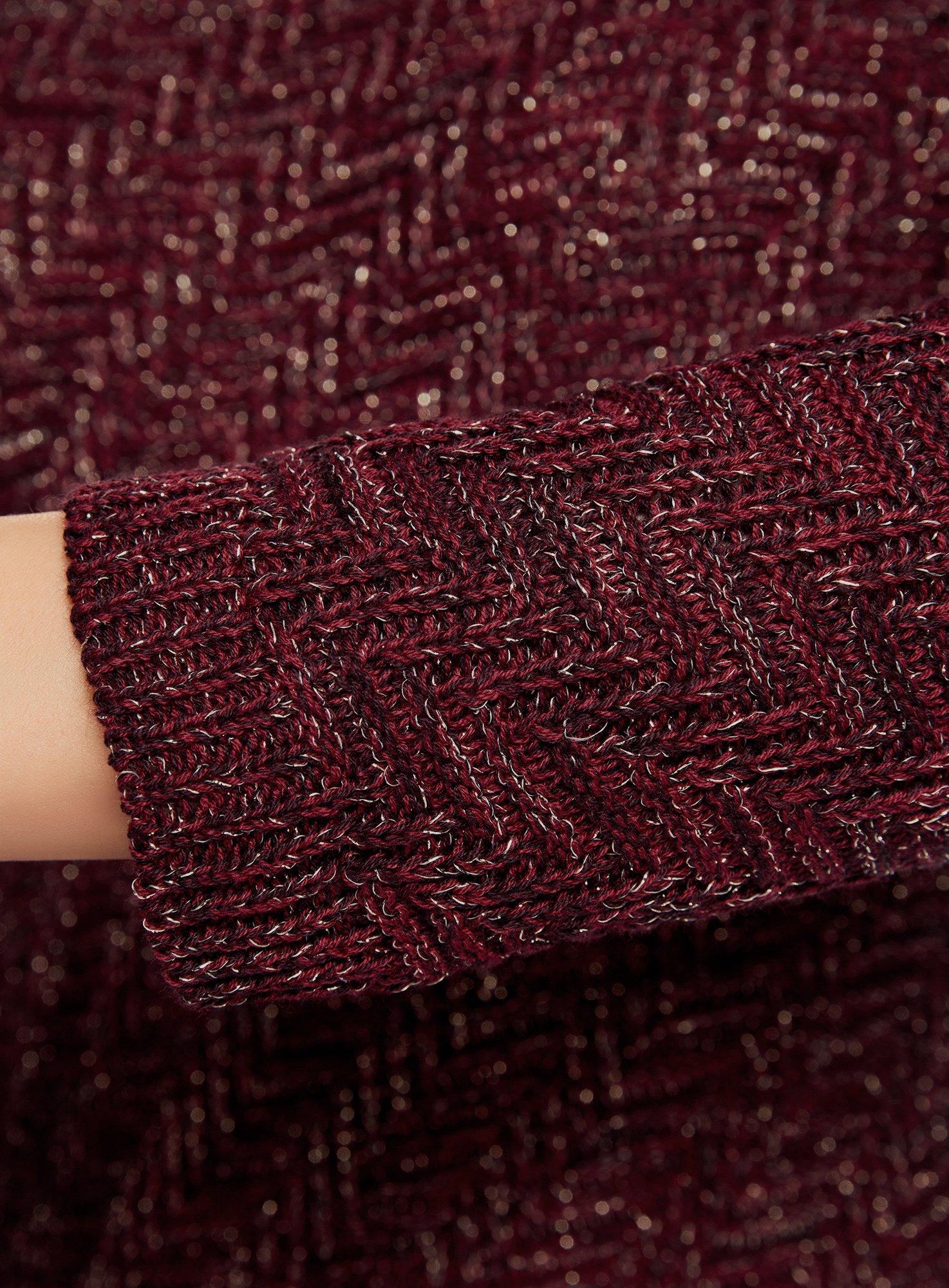 oodji Ultra Mujer Jersey de Punto Texturizado con Rayas Diagonales