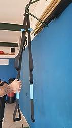 KEAFOLS Entrenamiento en Suspensión, Eentrenador en Suspensión Correa de Suspensión Suspension Trainer Suspensión de Fitness Pro Ejercicio para ...