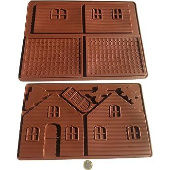 haus lebkuchenhaus hexenhaus h uschen silikonform backform schokoladenform eisw rfelform. Black Bedroom Furniture Sets. Home Design Ideas