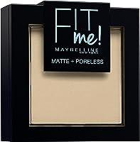 Maybelline New York Fit Me Matte&Poreless Cipria Opacizzante e Fissante, Pennello e Specchietto Inclusi, 105 Natural