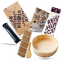 Reishunger Sushi Making Kit XXL avec Easy Sushi Maker et Hangiri) - Set Complet d'accessoires pour une soirée sushi…