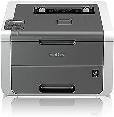 Brother HL-3142CW Kompakter Farbdrucker (Drucken, A4, 18 Seiten/Min., 2.400x600 dpi, WLAN, Print AirBag für 150.000 Seiten)