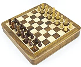 Chess games online buy chess games for kids online amazon va wooden magnetic square chess board with a tray holding all pieces inside the board fandeluxe Image collections