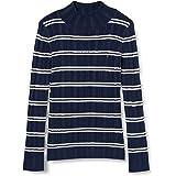 Tommy Hilfiger Pointelle Stripe Turtle Neck Suéter para Mujer