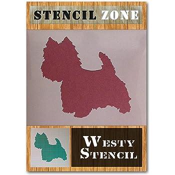 A1 Size Stencil - Xlarge West Highland Westie Dog Stood Mylar Wall Art Stencil Home Decor DIY Art Crafts