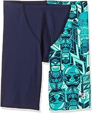 Speedo Boys Swimwear Tri Bold Allover V Cut Panel Jammer