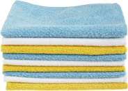 AmazonBasics CW190423 Microfiber Cleaning Cloth - 222 GSM (Pack of 24), Blue and Yellow