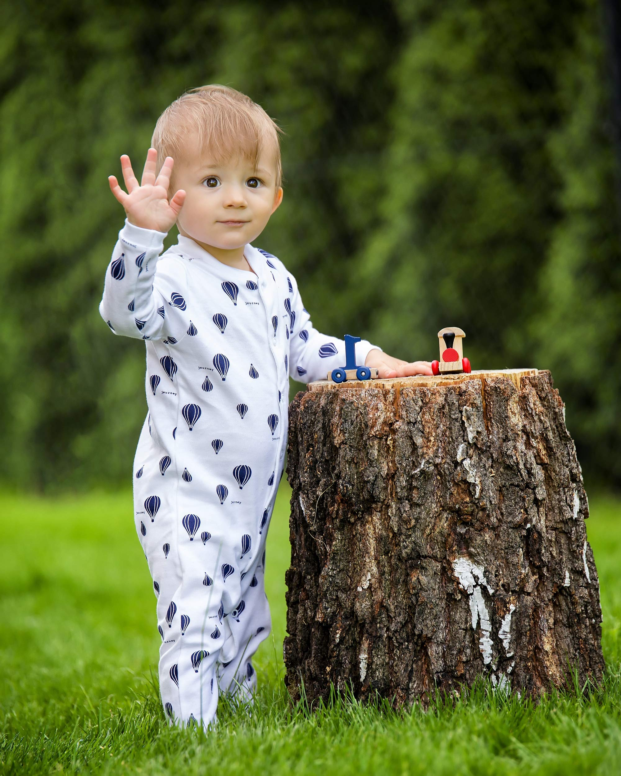 Sibinulo Niño Niña Pijama Bebé Pelele de Algodón- Tamaños 56-74 - Pack de 3 7