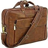Storite PU Leather 15.6 Inch Laptop Shoulder Sling Office Business Messenger Travel Bag for Men & Women (39 x 30 x 9 cm, Coff