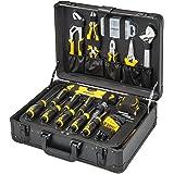 STANLEY Valise de Maintenance STMT98109-1 - 142 Pièces - Pinces et coupe-touts, clé à molette, niveau, mesure, tournevis, sci