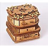 Cluebox, Un juego de escape en una caja, el cofre de Davy Jones, rompecabezas 3D de madera cada de regalo, caja de trucos