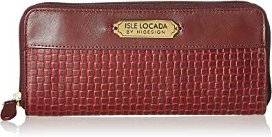 Isle Locada By Hidesign Autumn-Winter 19 Women's Zip Around (Aubergine/Nude) (N 1)