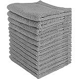 Utopia Towels - Lot de Serviettes de Toilette Premium (30 x 30 CM, Gris) 600 GSM 100% coton, Gants de toilette/Serviette de V
