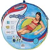 SwimWays - 6038064 - Spring Float Papasan - Siège Gonflable de Piscine Semi Immergé en Tissu - Couleur Aléatoire