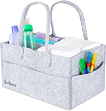 Baby Diaper Caddy By Bonbino - Luxury Portable Diaper Storage Caddy With Changeable Compartments. For Home