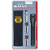 MAGLITE Mini Maglite gloeilamp 2AA zaklamp zwart holster Pack