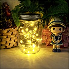 Led Solarleuchten Garten   NEWYANG Mason Jar Licht, Garten Licht,  Gartendeko Solar, Solar