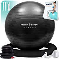 Exercise Ball Chair (55cm, 65cm & 75cm) - Yoga Ball & Stability Ring. For Pregnancy, Balance, Pilates or Birthing…