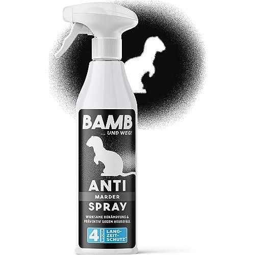 Spray martore BAMB – Repellente per martore e roditori 500ml – Anti martora auto e casa effetto lunga durata – Antimartora per auto e anti faina