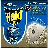 Raid Original Nachfüller für Insekten-Stecker Night & Day Trio, Zum Schutz vor Insekten bei Tag und Nacht, Bis zu 300 Stunden, Night & Day Trio Nachfüller