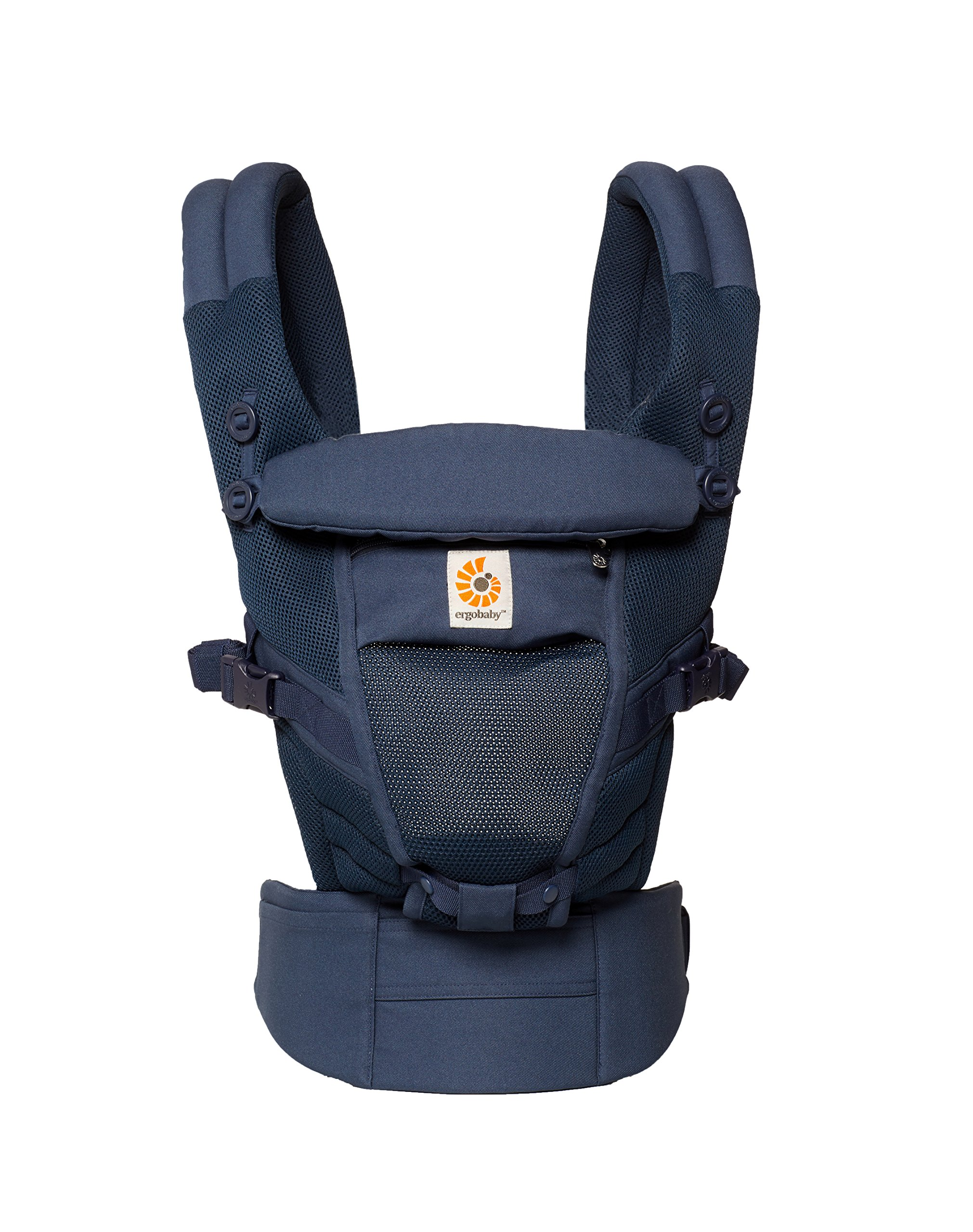 Ergobaby Baby Carrier for Newborn to Toddler up to 20kg, Adapt 3-Position Cool Air Mesh, Deep Blue Ergobaby Ergonomic bucket seat gradually adjusts to a growing baby from newborn to toddler (3.2 -20kg) No infant insert required 3 ergonomic carry positions: front-inward, hip and back 1
