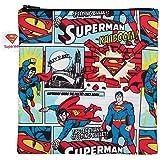 Bumkins Sandwich Bag / Snack Bag, Reusable Fabric, Washable, Food Safe, BPA Free, 7x7 – DC Comics Superman