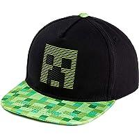Minecraft - Cappellini da baseball per ragazzi, per bambini, con creeper e TNT, taglia unica, prodotto ufficiale per…