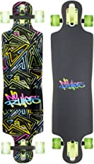 authentic sports & toys GmbH Longboard ABEC 7, No Rules Neon, mit Leuchtrollen