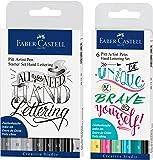 Faber-Castell 267118 - Tuschestift Pitt Artist Pen Lettering Starter Set, 8er Etui + Tuschestift Pitt Artist Pen Lettering 6 Pastelltöne