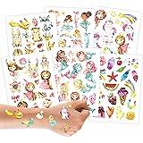 100 Opplaktatoeages - kindertattoos met bosdieren, eenhoorns, zeemeerminnen, prinsessen en andere ontwerpen geschikt voor kin
