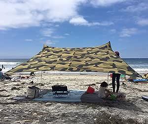 11 pi 3,4 m x 3,4 m Coins renforc/és et Poche r/éfrig/ér/ée 11 pi Neso Gigante Tente de Plage Tents 8 pi de Hauteur 2,5 m