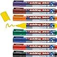 edding 360 whiteboardmarker set - diverse kleuren - 8 whiteboardstiften - ronde punt 1,5 - 3 mm - boardmarker uitwisbaar - vo