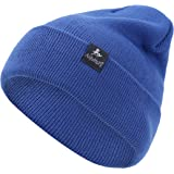 AnJuHoPa hat for Men Knitted Beanie Women Stretchable Winter Hats for Daily Life in Trendy Color Unisex Style