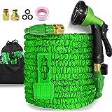 Garden Hose-50ft Expandable Hose - Heavy Duty Flexible Leakproof Hose - 8-Pattern High-Pressure Water Spray Nozzle & Bag & Pl