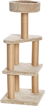 AmazonBasics Cat Activity Tree with Scratching Posts, Large (Beige)