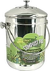 Wir von Eddingtons sind stolz Deluxe Komposteimer - 4.4 liters Blau mit Kohlefilter