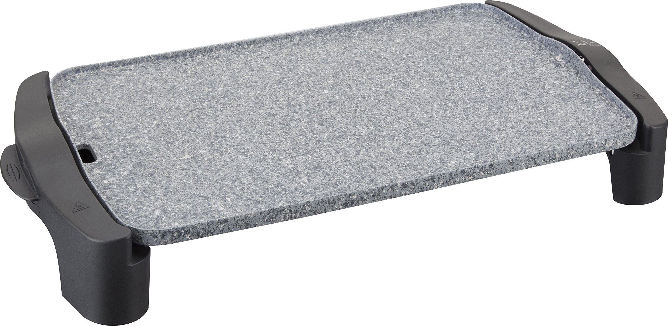 Jata Plancha de asar GR558 –  2,500 W de potencia, Medidas: 46 x 28 cm, Muy resistente al rayado y antiadherente, Libre de PFOA, Fabricada en España, Fácil limpieza