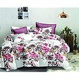 Flower Comforter 3Pcs Set Single 160x220cm, AI1217S, white & pink, white & pink