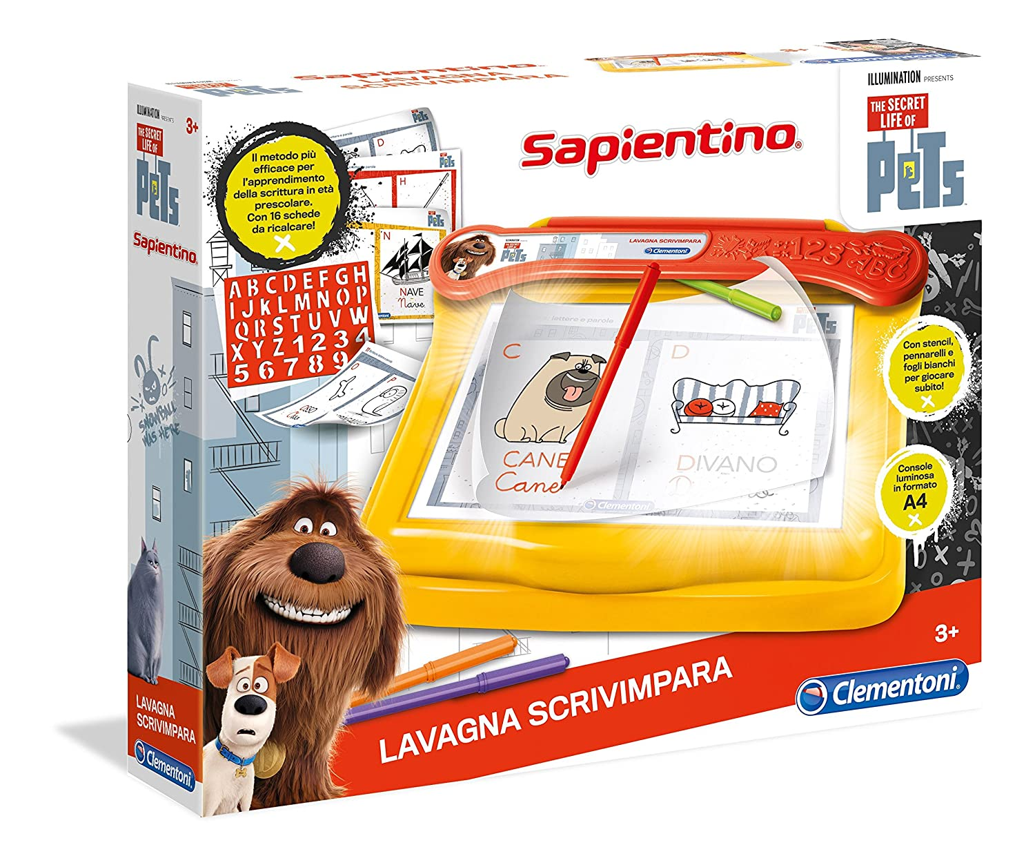Favoloso Clementoni 12029 - Lavagna Scrivimpara: Amazon.it: Giochi e giocattoli TX85