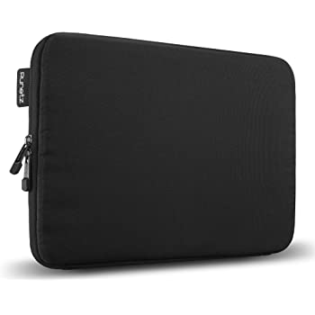 """Runetz - 13-inch BLACK Soft Sleeve Case Cover for MacBook Pro 13.3"""" with or w/out Retina Display and MacBook Air 13"""" Laptop Gabbro Collection - Black"""